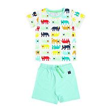 Buy Polarn O. Pyret Children's Cat Pyjamas, Blue Online at johnlewis.com