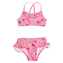 Buy Polarn O. Pyret Girls' Sea Print Bikini, Pink Online at johnlewis.com