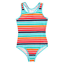 Buy Polarn O. Pyret Girls' Striped Swimsuit, Blue Online at johnlewis.com