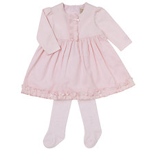 Buy Emile et Rose Faith Dress And Tights Set, Pink Online at johnlewis.com