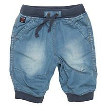 Buy Polarn O. Pyret Baby Denim Long Shorts, Blue Online at johnlewis.com