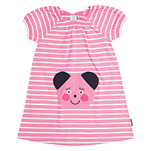 Buy Polarn O. Pyret Girls' Appliqué Stripe Dress, Pink Online at johnlewis.com