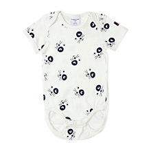 Buy Polarn O. Pyret Baby Cat Print Bodysuit Online at johnlewis.com