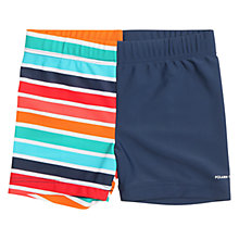 Buy Polarn O. Pyret Children's Colourful Swimming Trunks, Navy Online at johnlewis.com