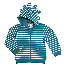 Buy Polarn O. Pyret Children's Stripe Hoodie, Blue Online at johnlewis.com
