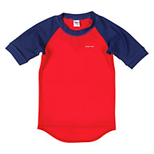 Buy Polarn O. Pyret Children's UV Sun Safe Short Sleeve Top, Navy Online at johnlewis.com
