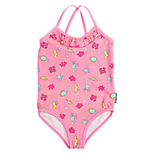 Buy Polarn O. Pyret Baby Sea Print Swimsuit, Pink Online at johnlewis.com