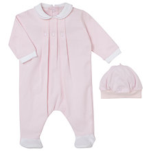 Buy Emile et Rose Baby Fritzi Collar Three Fix Pleat Romper and Hat Set Online at johnlewis.com