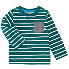 Buy John Lewis Baby Stripe Pocket Detail Top, Green/White Online at johnlewis.com