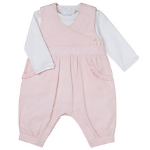 Buy Emile et Rose Baby Feather Cord Dungarees and Body Set, Pink Online at johnlewis.com