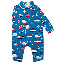 Buy John Lewis Baby Whale Sleepsuit, Blue Online at johnlewis.com