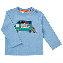 Buy John Lewis Baby Dog's Deli Long Sleeve Top, Blue Online at johnlewis.com
