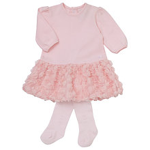 Buy Emile et Rose Baby Flick Tulle Dress and Tights Set, Pink Online at johnlewis.com
