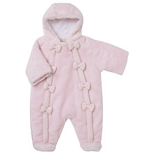 Buy Emile et Rose Baby Fabbienne Snowsuit, Pink Online at johnlewis.com
