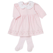 Buy Emile et Rose Baby Florence Jersey Dress and Tights Set, Pink Online at johnlewis.com