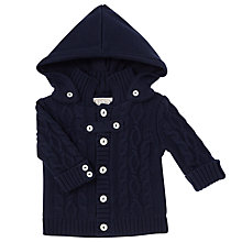 Buy Emile et Rose Baby Finn Knit Jacket, Navy Blue Online at johnlewis.com