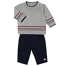 Buy Emile et Rose Baby Freddie Knit Jumper and Trousers Set, Blue/Grey Online at johnlewis.com