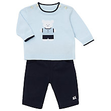 Buy Emile et Rose Baby Frank Knit Top and Trousers Set, Blue Online at johnlewis.com