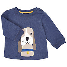 Buy John Lewis Baby's Dog Sweater, Blue Online at johnlewis.com