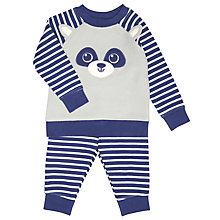 Buy John Lewis Baby Animal Face Pyjamas, Blue Online at johnlewis.com