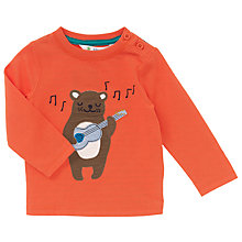 Buy John Lewis Baby Guitar Bear Long Sleeve T-Shirt, Orange Online at johnlewis.com