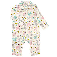 Buy John Lewis Baby Woodland Romper, Cream Online at johnlewis.com