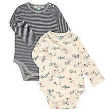 Buy John Lewis Baby Dog & Stripes Bodysuits, Pack of 2 Online at johnlewis.com