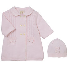 Buy Emile et Rose Baby Freya Knit Coat and Hat, Pink Online at johnlewis.com