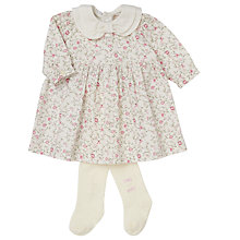 Buy Emile et Rose Baby Francesca Cord Dress and Tights Set, Pink/Cream Online at johnlewis.com