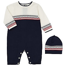 Buy Emile et Rose Baby Fernando Knit Romper and Hat Set Online at johnlewis.com