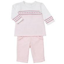 Buy Emile et Rose Baby Fred Knit Top and Cord Trousers, Pink Online at johnlewis.com