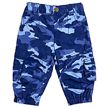 Buy John Lewis Baby's Camo Skater Trousers, Blue Online at johnlewis.com