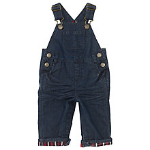 Buy John Lewis Baby's Dungarees, Denim Blue Online at johnlewis.com