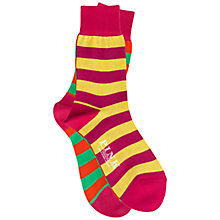 Buy Thomas Pink Odd Stripe Socks, Pack of Two, Orange/Pink Online at johnlewis.com