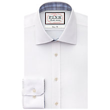 Buy Thomas Pink Stregon Plain XL Sleeve Shirt, White Online at johnlewis.com