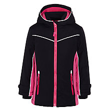 Buy John Lewis Girls Water Resistant Jacket, Navy / Pink Online at johnlewis.com