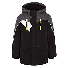 Buy John Lewis Boys Water Resistant Jacket, Black / Grey Online at johnlewis.com