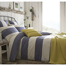 Buy Seasalt Cornish Stripe Lapis Bedding, Blue Online at johnlewis.com