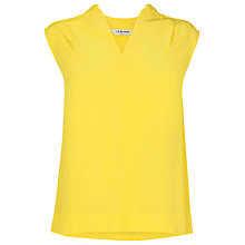 Buy L.K. Bennett Silk Nema Sleeveless Top, Lemon Online at johnlewis.com