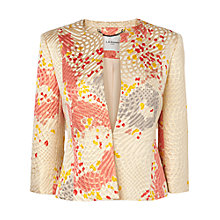 Buy L.K. Bennett Gardo Cropped Jacquard Jacket, Multi Online at johnlewis.com