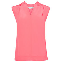 Buy L.K. Bennett Norma Sleeveless Top, Popsicle Online at johnlewis.com