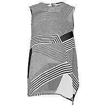 Buy L.K. Bennett Natasha Multi Stripe Silk Top, White/Black Online at johnlewis.com