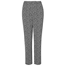 Buy L.K. Bennett Marble Jacquard Trousers, White Online at johnlewis.com