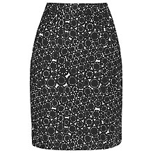 Buy L.K. Bennett Chene Cog Print Skirt, Black Online at johnlewis.com