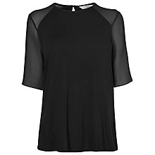 Buy L.K. Bennett Exton Panel Top, Black Online at johnlewis.com