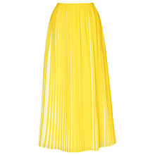 Buy L.K. Bennett Sasoon Pleated Skirt, Citrus Online at johnlewis.com