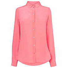 Buy L.K. Bennett Derb Silk Shirt, Popsicle Online at johnlewis.com