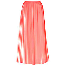 Buy L.K. Bennett Sasoon Pleated Skirt, Popsicle Online at johnlewis.com