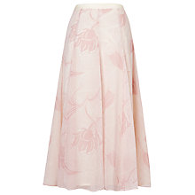 Buy L.K. Bennett Montez Fluid Printed Maxi Skirt, Blush Pink Online at johnlewis.com