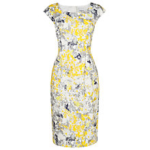 Buy L.K. Bennett Hannah Printed Cotton Dress, Yellow Online at johnlewis.com